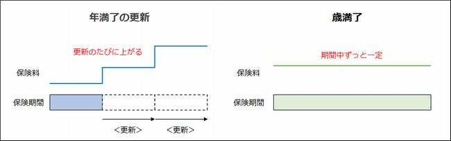 定期保険の期間設定の種類(年満了と歳満了)